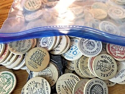 Wooden Nickels! ~ Two from Lot Shown -- AWESOME!!  **ULTRA LOW FIXED PRICE!**