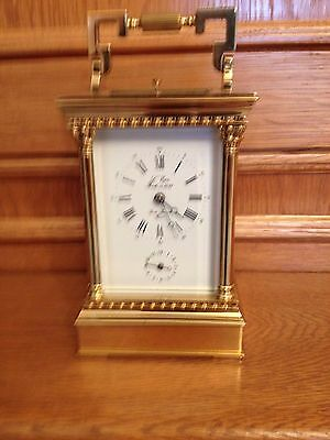 L'Epee..VERY VERY  RARE LARGE VENETIENNE MUSICAL CARRIAGE CLOCK