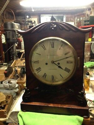 bracket clock James Condliff, Liverpool, chain driven double fusee