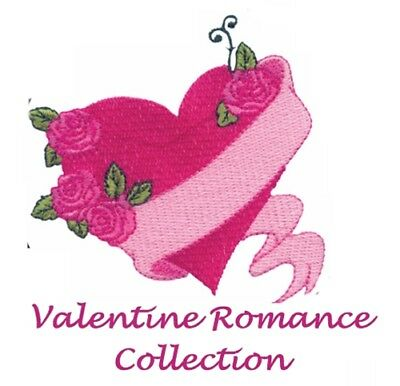 Valentine Romance Collection - Machine Embroidery Designs On Cd