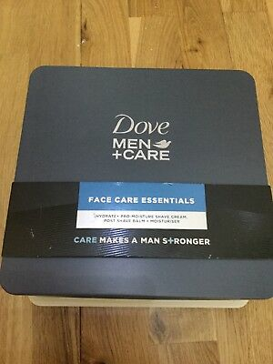 Dove Men + Care Essential Face Care Tin Mens Gift Set