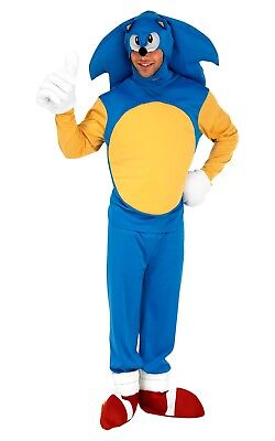Adult SONIC THE HEDGEHOG Fancy Dress Costume Gaming TV Licensed Outfit Film Mens
