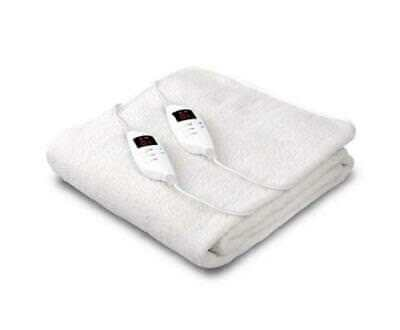 Fully Fitted Washable LED 9 Setting Heated Electric Blanket Queen Size Bed