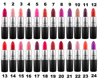 M.A.C Lipstick, Multiple Colours 26 Shades to choose,Velvet Teddy, Ruby Woo