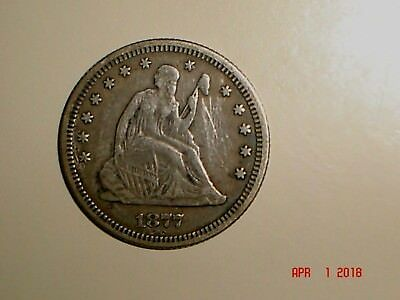 1877 25C Liberty Seated Quarter *Grand Pa's Collection* Higher Grade