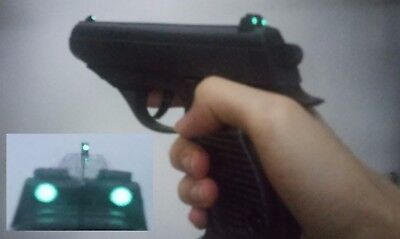 PPK toy gun & night glow sight cosplay costume prop bond 007 james walther pp