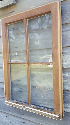 Vintage Sash Antique Wood Window Unique Frame Pinterest 4 Pane Wood Finish