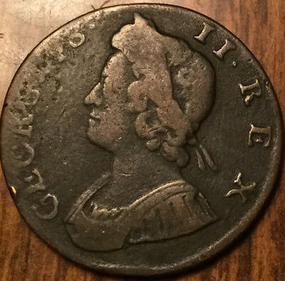 1735 United Kingdom Halfpenny