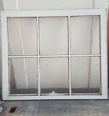 Architectural Salvage 32x27 NO GLASS, UNIQUE PANE DIVIDERS, RUSTIC WINDOW SASH