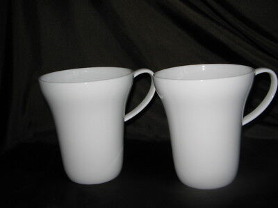 2 x J Me Squash mugs by designer George J Sowden white perfect & unused