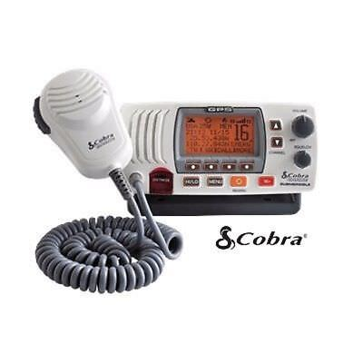 Cobra MR-F77 DSC VHF Marine Radios with Built-In GPS Receiver MRF77WGPS White MD