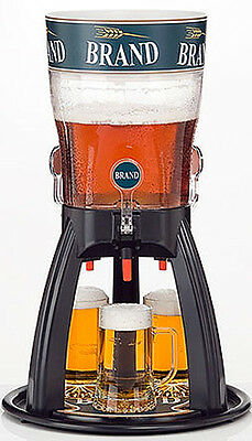 Beer Tower 5 Liters ORIGINAL Tabletop Beverage Dispenser with Cooling three Taps