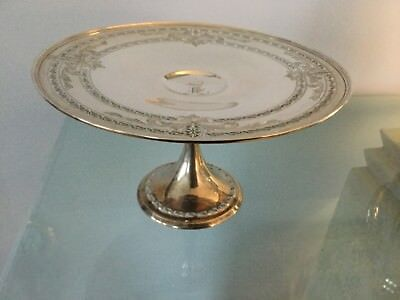 Pair Vintage Antique Tiffany Co Art Deco Sterling Silver Salt Pepper & Sterling Silver Cake Stand | Zef Jam