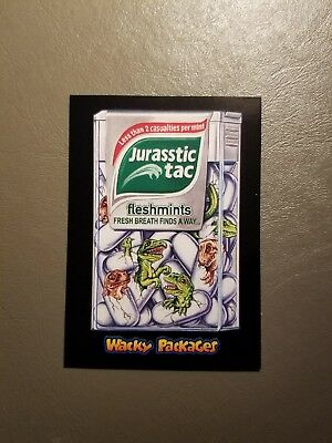 Jurasstic Tac Red Ludlow 19/25 2018 Topps Wacky Packages Go to the Movies