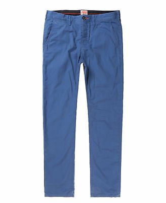 New Mens Superdry Rookie Chino Trousers Barbados Blue