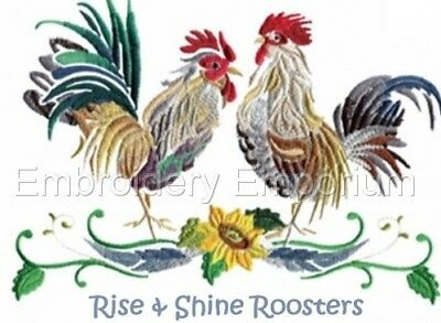 Rise And Shine Roosters Collection - Machine Embroidery Designs On Cd