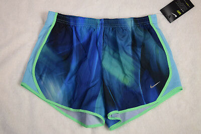NWT NIKE Youth Girl's Dry Tempo AOP2 All Over Print Running Shorts Size M, L