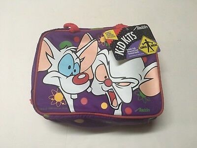 PINKY & THE BRAIN WARNER BROS ANIMANIACS Lunchbox Lunchbag Lunch Bag Rare 1996