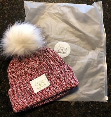a8b3eda3a3c NEW love YOUR melon LYM SOLD OUT USA red white blue POM BEANIE Gold Foil  Patch