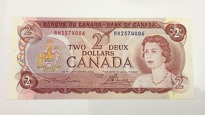 1974 Canada 2 Two Dollar RH Prefix Canadian Uncirculated Banknote E964