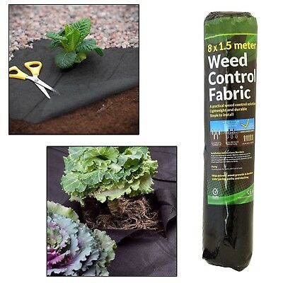 Weed Control Fabric Membrane Ground Cover Sheet Garden Landscape 1.5m  x 8m