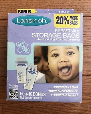 Lansinoh Breastmilk Storage Bags - 60 Pre-sterilized Bags