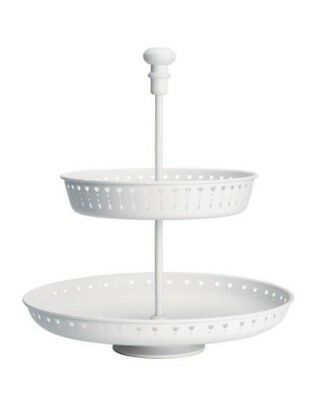 Ikea Garnera 2 Tier Cake Stand Cupcake Serving Canapes Afternoon Tea Coffee Bun