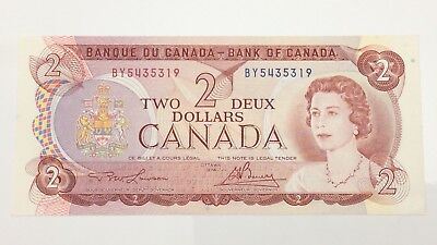 1974 Canada 2 Two Dollar BY Prefix Canadian Circulated Banknote E972