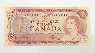 1974 Canada 2 Two Dollar BZ Prefix Canadian Uncirculated Banknote E973