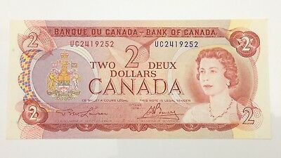 1974 Canada 2 Two Dollar UC Prefix Canadian Circulated Banknote E977