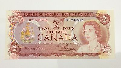 1974 Canada 2 Two Dollar RX Prefix Canadian Uncirculated Banknote E978