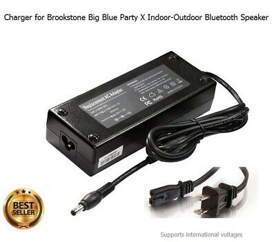 Charger for Brookstone Big Blue Party X Indoor-Outdoor Bluetooth Speaker