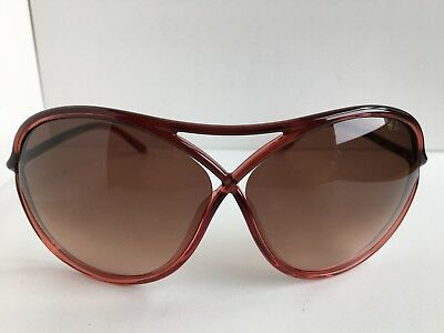 Tom Ford Vicky TF 184 TF184 50F Burgundy Oversized Women's Sunglasses T1