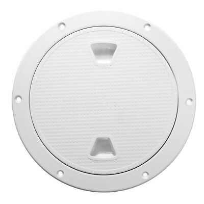 1x 4'' White Round Deck Plate Inspection Hatch Marine Screw Out Boat Access ABS