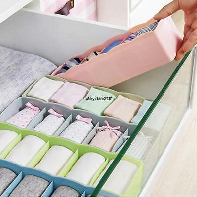 5Cell Drawer Organizer Home Kitchen Board Divider Makeup Boxer Socks Storage Box