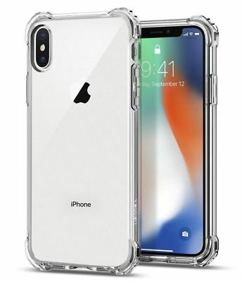 Apple iPhone X Case Crystal Clear Bumper Silicone Gel iPhone 6 7 8 X Soft Cover