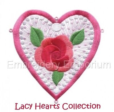 Lacy Hearts Collection - Machine Embroidery Designs On Cd