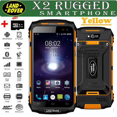 Rugged Discovery X2 Unlocked Android 6.0 3G Smartphone MTK6737 Quad Core w/32GB