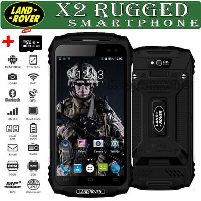 32GB Rugged Discovery Unlocked Android 6.0 3G Smartphone MTK6737 Quad Core Black