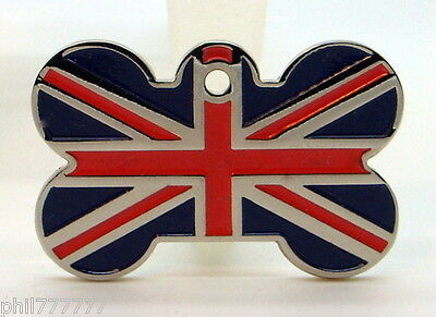 Union Jack ~ National Flag of Great Britain ~ Large pet id tags