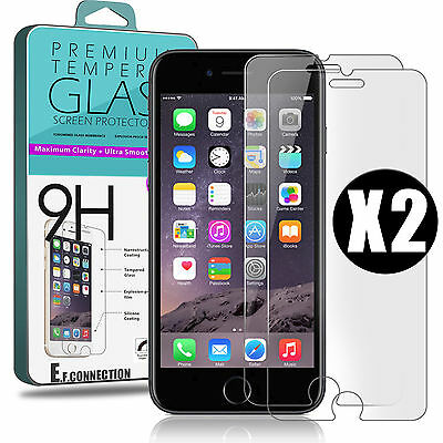 Lot VITRE FILM PROTECTION EN VERRE TREMPE D'ÉCRAN iPhone X 7/8 /PLus 5/S/6/6S/SE