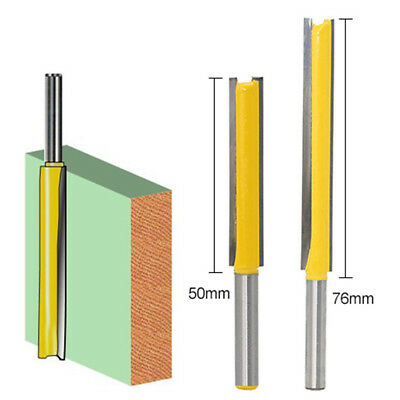 "50mm 76mm 1/4"" x 3/8"" Long Straight Shank Flush Trim Router Cutter Bit Tool UK"