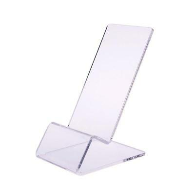 Clear Acrylic Transparent Mobile Phone Display Stand Mount Holder Rack Bracket Y