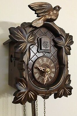 German Black Forest Carved Anton Schneider 1 Day Movement Cuckoo Clock
