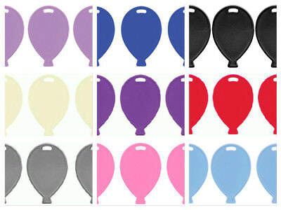 10 Plastic Balloon Shape Weights Pink Blue White Ivory Purple Lilac Black Silver