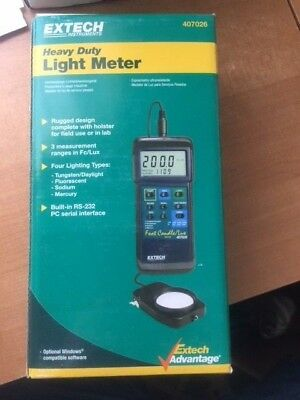 New Extech Instruments 407026 Heavy Duty Light Meter w/ PC interface