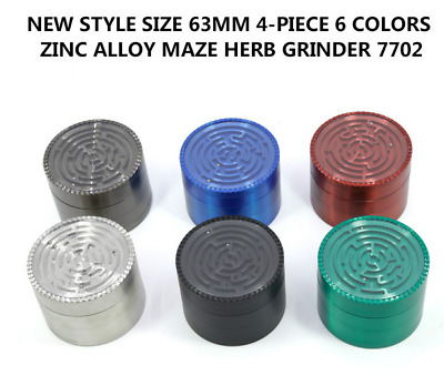 2.5inch 4 Layer Zinc Alloy Labyrinth Style Grinder Tobacco Herb Metal Crusher