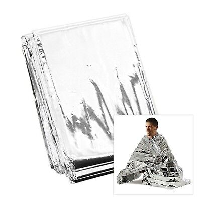 4x Premium FOIL Thermal Emergency BLANKET, First Aid Waterproof Camping Survival