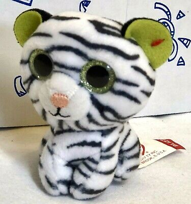 New 2017 McDONALD S TY TEENIE BEANIE BOOS White Tiger  2 Blizz Toy Plush  Doll NW 54754cedf0e5