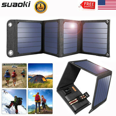 5V 14W Foldable Solar Panel Portable Battery Charger For Phone Hiking+USB Cable